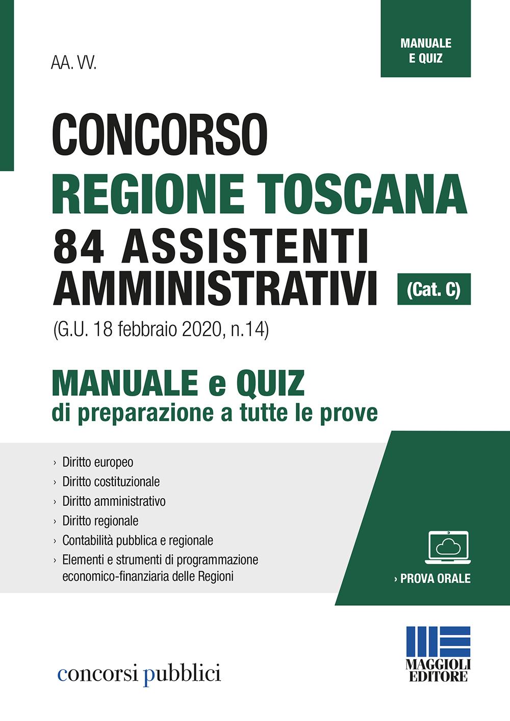 Concorso Regione Toscana 84 Assistenti amministrativi