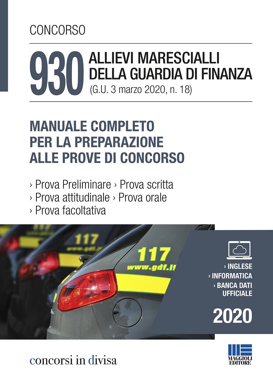Concorso 930 allievi Guardia Finanza 2020 - Libro carta