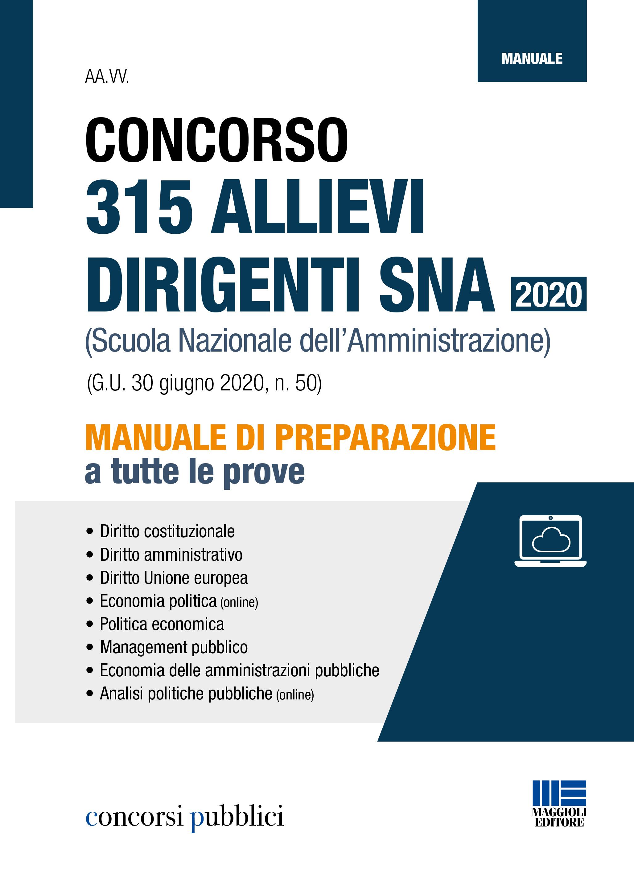 Concorso 315 Allievi Dirigenti SNA 2020