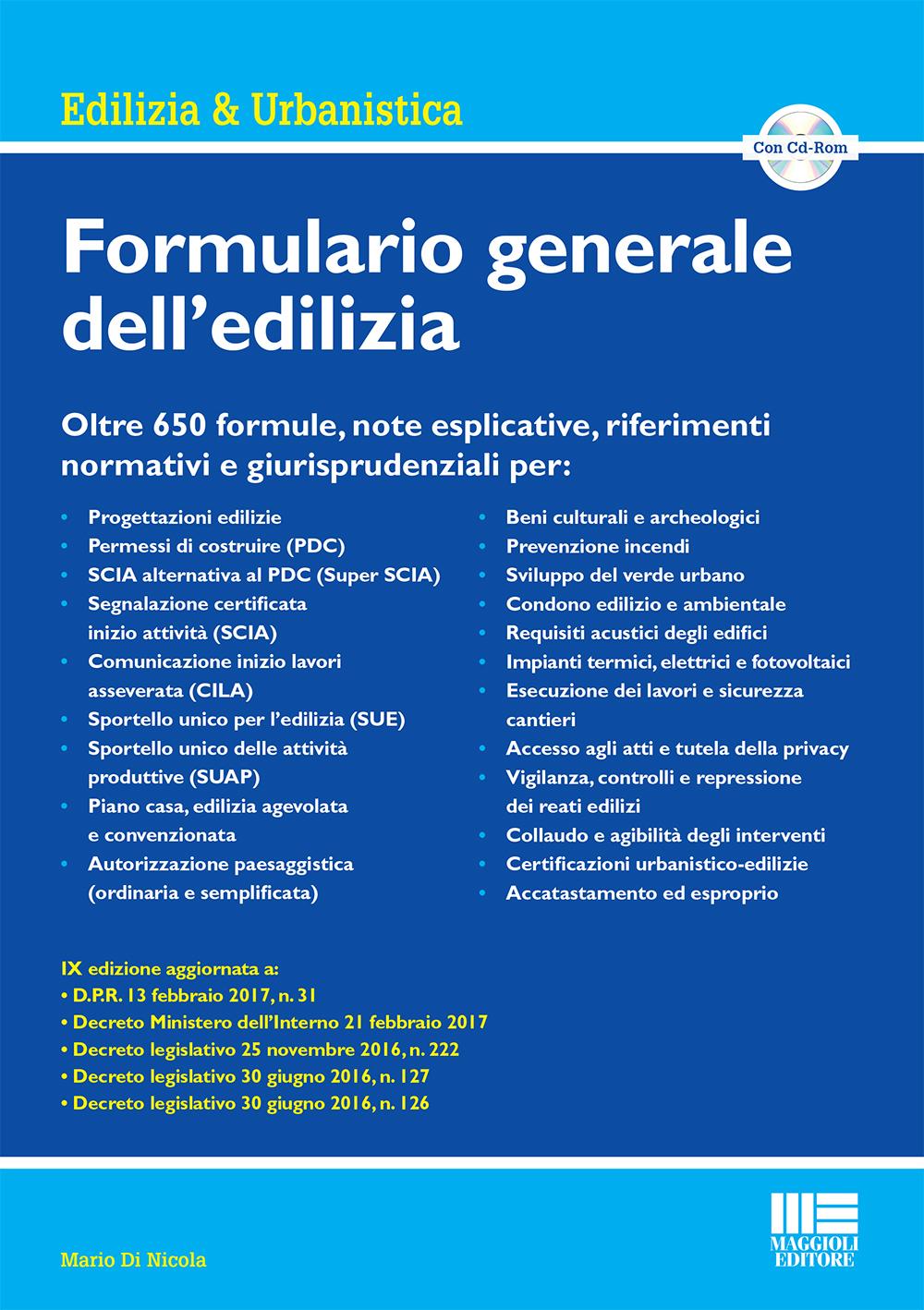 Formulario Generale Dellu0027edilizia   (Libro)