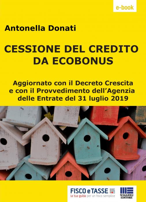 Cessione del credito e sconto in fattura da ecobonus