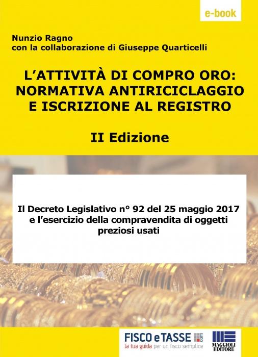 Attività di Compro Oro: Normativa antiriciclaggio