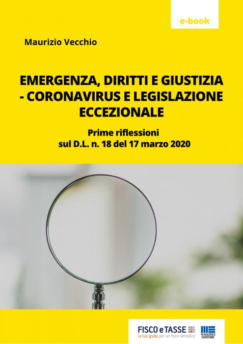 Coronavirus e legislazione eccezionale (eBook 2020)