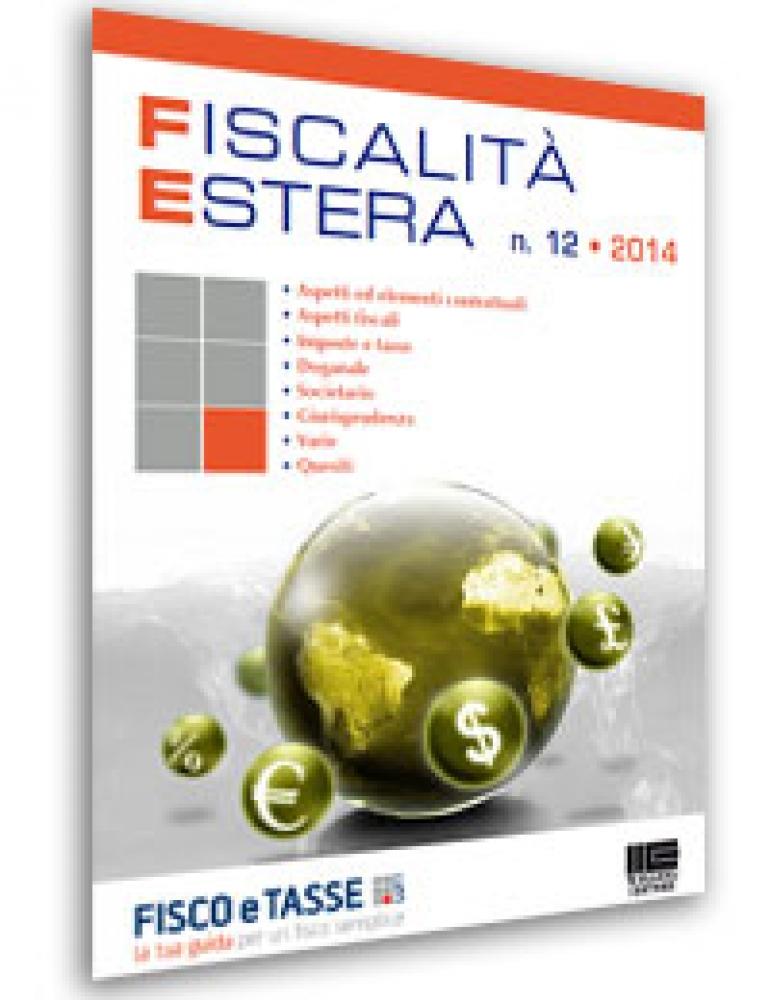 Fiscalità Estera - n. 12/2014