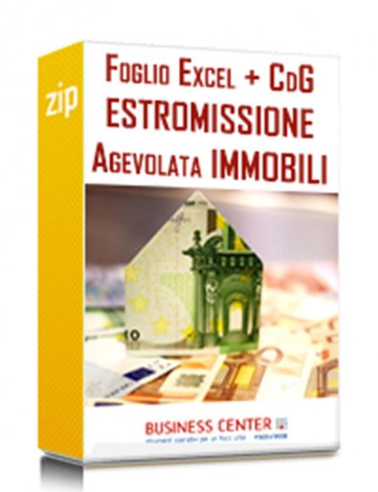 Estromissione agevolata immobili (Excel + CdG)