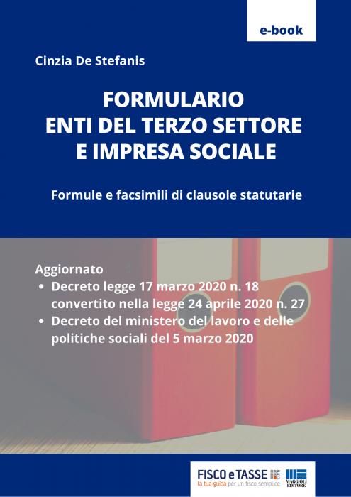 Formulario Enti Terzo Settore e Impresa sociale