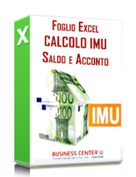 Calcolo IMU 2019: acconto e saldo (excel)