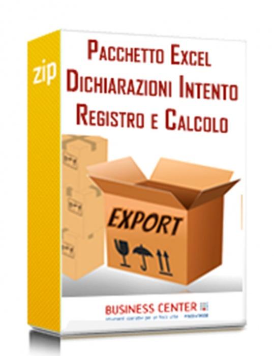 Dichiarazioni d'intento (Pacchetto Excel)