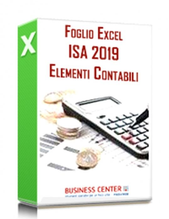 Elementi contabili ISA 2019 (Excel)