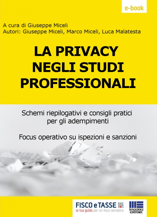 La Privacy negli studi professionali (eBook 2019)