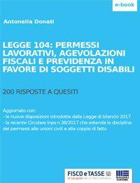 Legge 104   Agevolazioni Per I Soggetti Disabili EBook