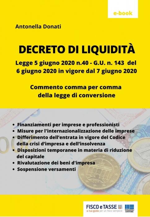 Decreto di Liquidità (eBook 2020)