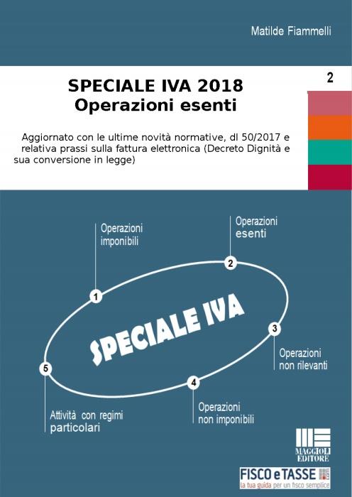 Speciale IVA 2018 - Operazioni esenti (eBook)