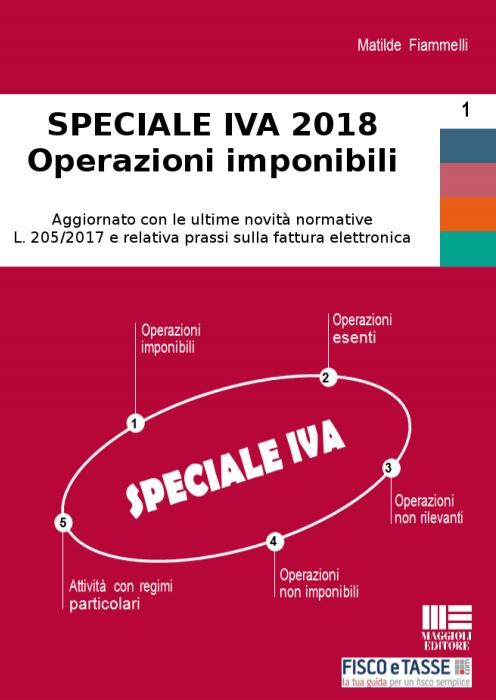 Speciale IVA 2018 - Operazioni imponibili (eBook)