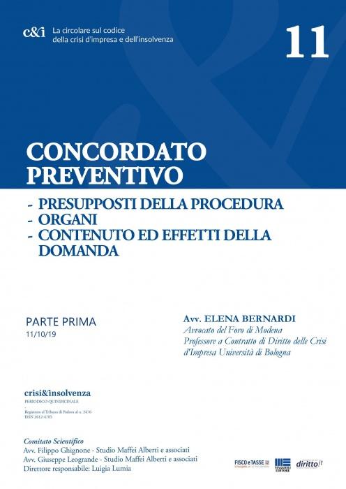 Concordato preventivo - Parte Prima