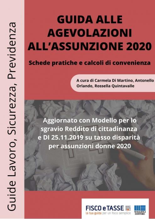 Guida alle agevolazioni all'assunzione 2020 (eBook)