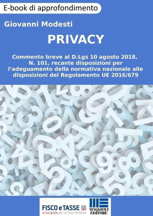 Privacy - Commento breve al D.lgs 101/2018