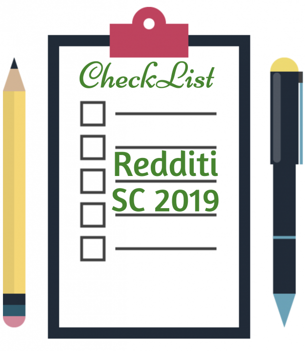 CHECK LIST + Novità del modello Redditi SC 2019