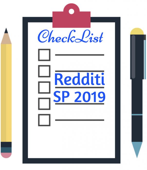 CHECK LIST + Novità del modello Redditi SP 2019