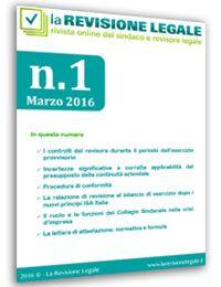 La Revisione Legale - n. 1/2016