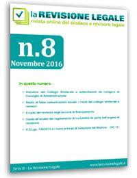 La Revisione Legale - n. 8/2016