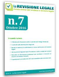 La Revisione Legale - n. 7/2016