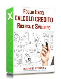 Calcolo Credito d'imposta Ricerca e Sviluppo (excel)