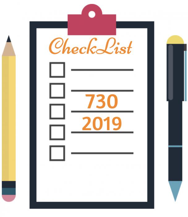 CHECK LIST + Novità 730/2019: dichiarazione anno 2018
