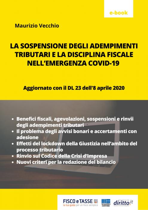 Covid-19: La sospensione degli adempimenti tributari