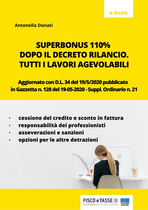 Superbonus 110% DL rilancio: tutti i lavori agevolabili