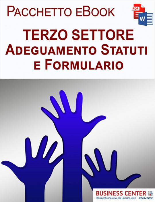 Terzo Settore adeguamento Statuti e Formulari
