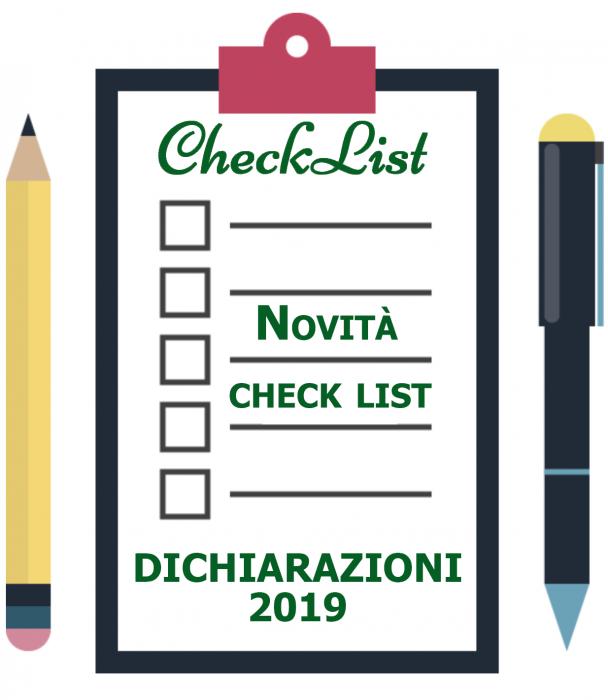 Dichiarazioni fiscali 2019: Novità e Check list