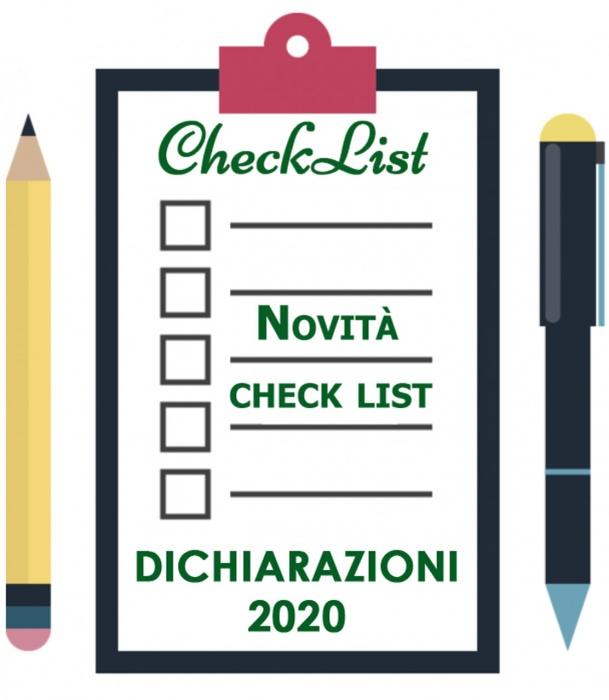 CHECK LIST + Novità modello Redditi PF e 730/2020