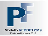 redditi PF 2019 modelli