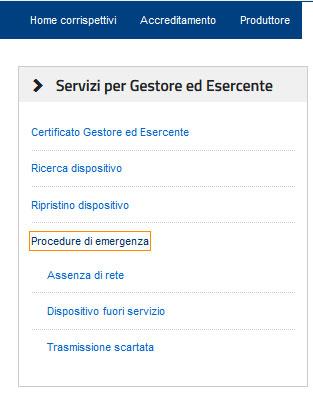 Procedure di emergenza RT