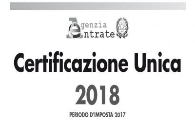 Certificazione Unica 2018: pubblicati i Modelli con relative istruzioni