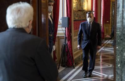 Mario Draghi incaricato da Mattarella alla formazione di un nuovo Governo