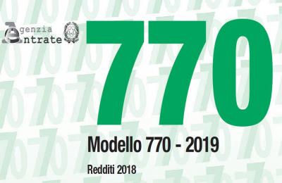 Modello 770/2019: invio telematico entro il 31.10.2019