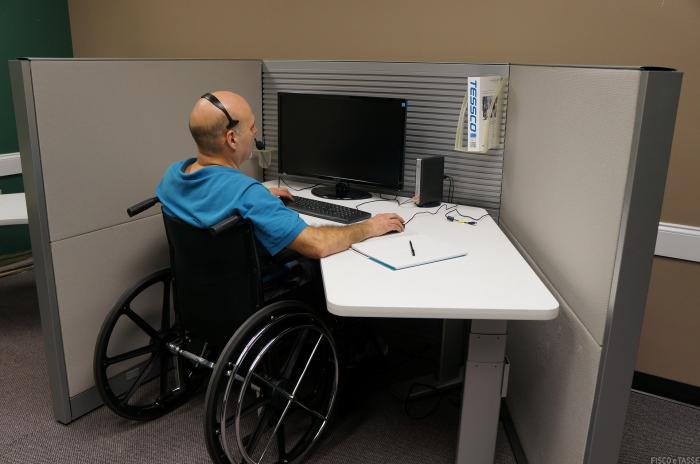 disabilita da lavoro