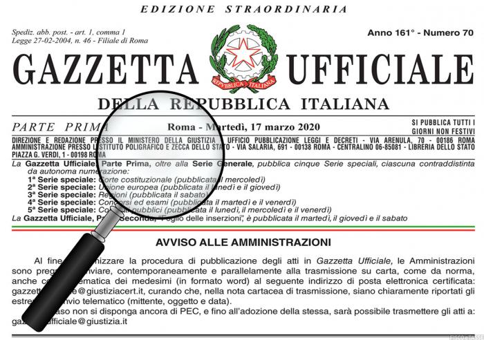 Decreto Ristori in Gazzetta: le misure per lavoro e famiglia