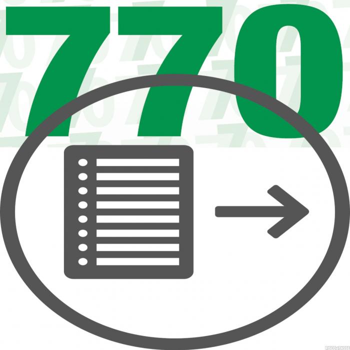 770 invio separato