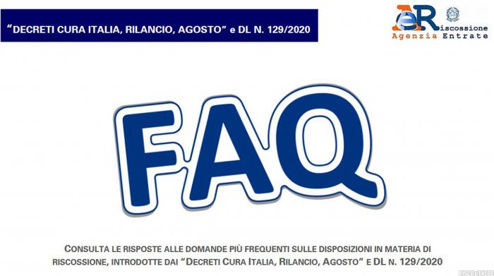 faq agenzia sospensione cartelle