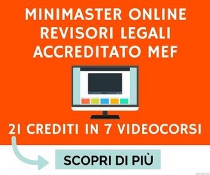Mini Master Revisori Legali 2019