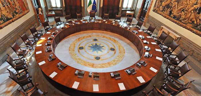 Consiglio dei Ministri sala