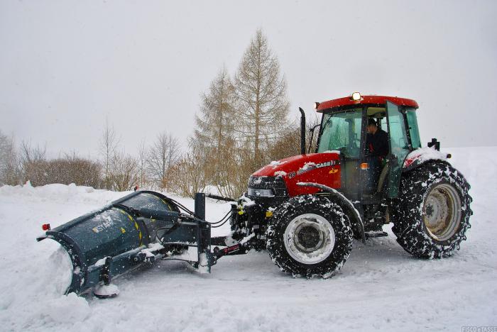 sgombero neve trattore agricoltura
