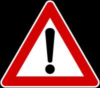 attenzione  segnale pericolo