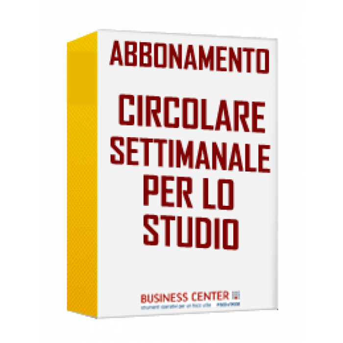 Circolare Settimanale per lo Studio - Trimestrale