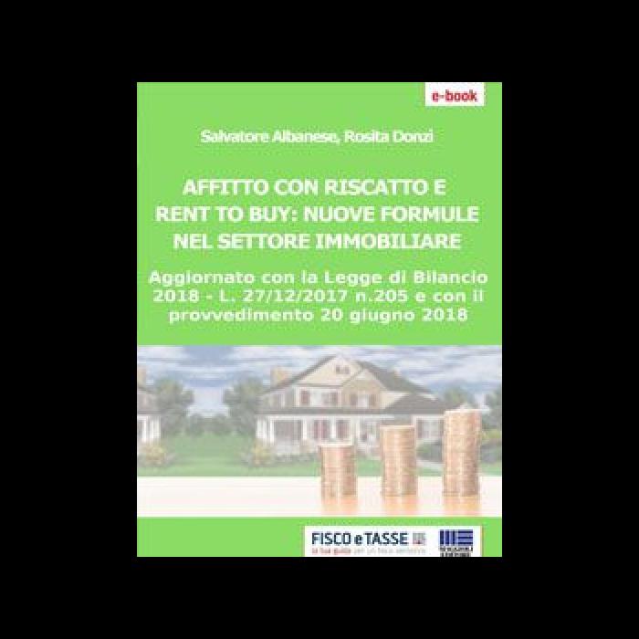 Affitto con riscatto e Rent to buy (eBook 2018)