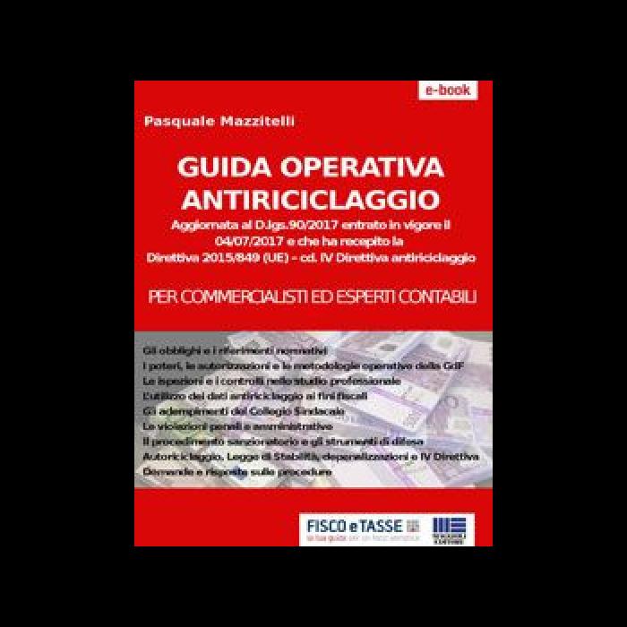 Guida operativa antiriciclaggio (eBook 2017)