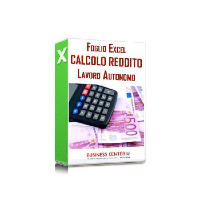 Calcolo reddito del lavoratore autonomo (excel 2019)